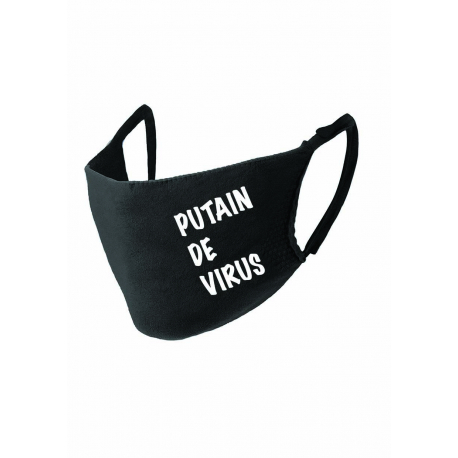 "Masque noir ""PUTAIN DE VIRUS"" norme Afnor UNS1"