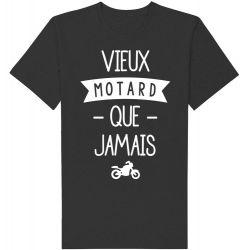 Tee-shirt imprimé vieux motard