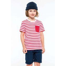 Striped White / Navy
