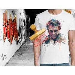 Tee-shirt imprimé steve peinture