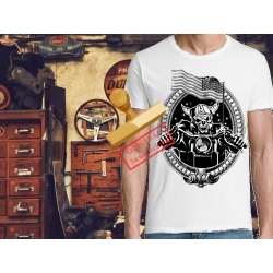 Tee-shirt imprimé Biker USA Flag