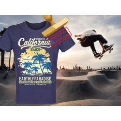 Tee-shirt imprimé LA California Beach