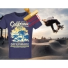 Tee-shirt imprimé Los Angeles California Beach