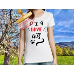 Tee-shirt I love Cats