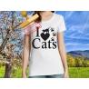 Tee-shirt I love Cats V3