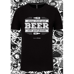 Tee-shirt beer with good friend
