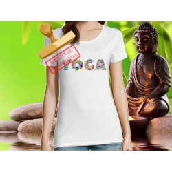 Tee-shirt Femme imprimé yoga2