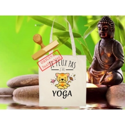 Tote Bag Organic Zen Yoga du Chat