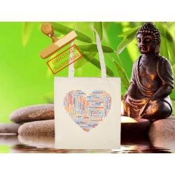 Tote Bag Organic Zen Coeur Yoga